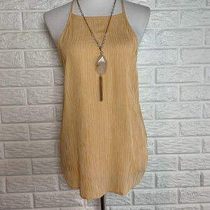 CJLA Taven mustard and white stripe tank top